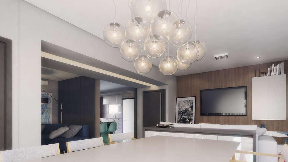 COBERTURA MA: Salas de jantar modernas por AF Arquitetura