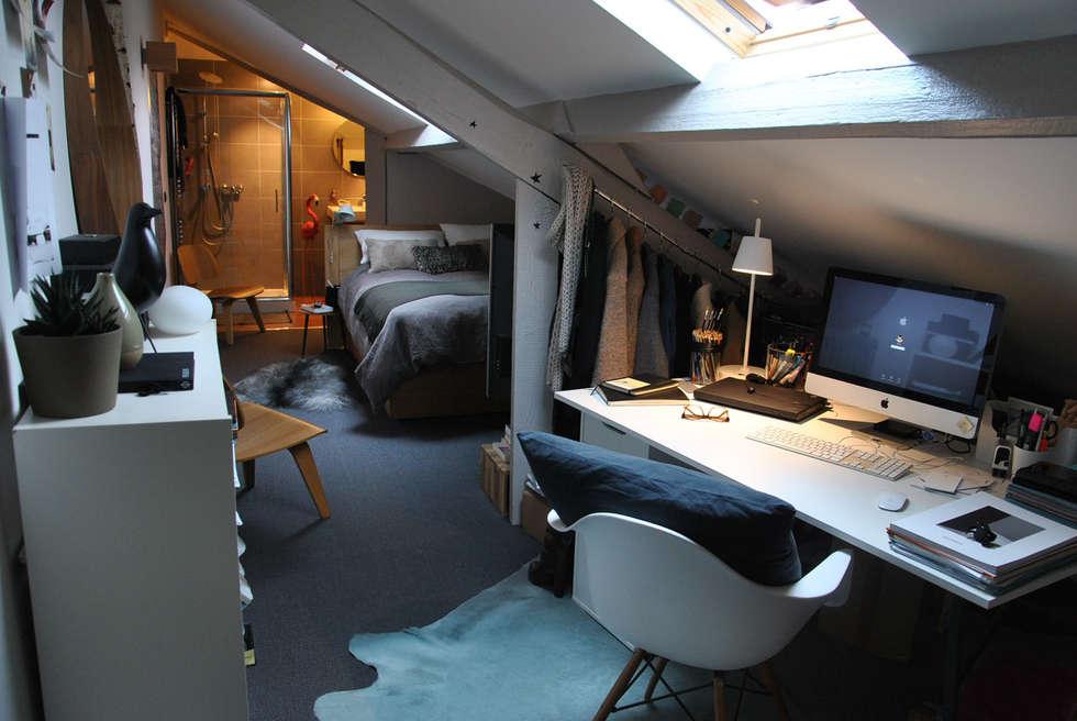 La suite ....: Chambre de style de style Scandinave par HOMEtimisation