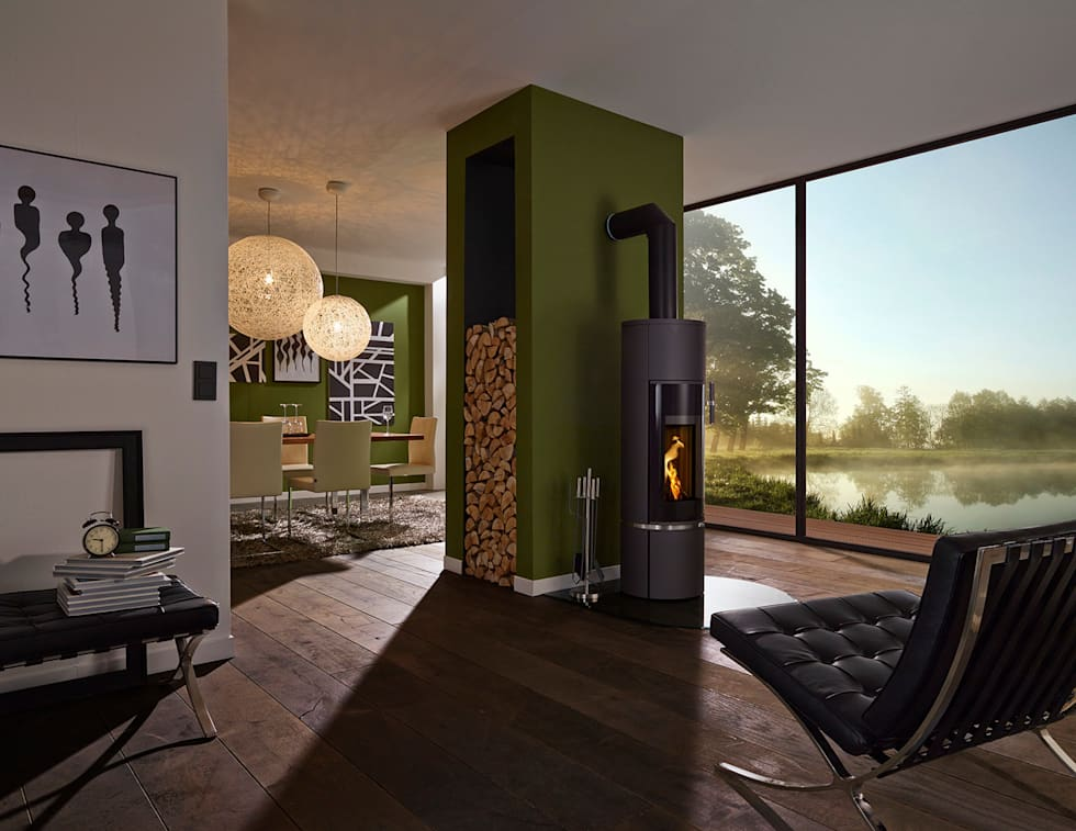 Idee arredamento casa interior design homify - Stufe a legna design ...