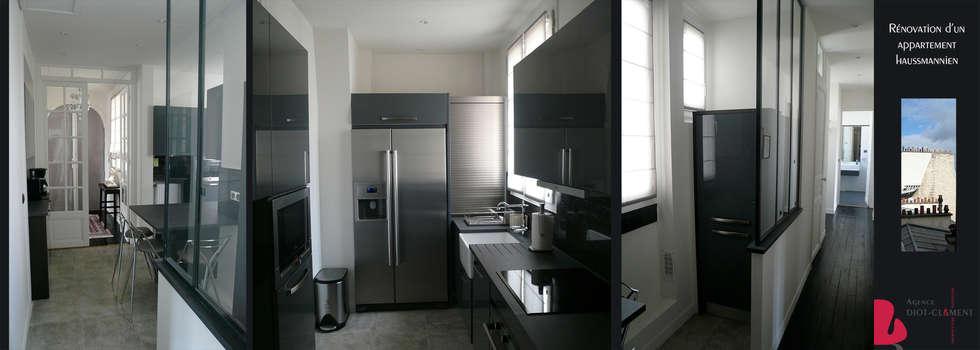 Agence Diot villa boudard: cuisine de style de style minimaliste par agence diot