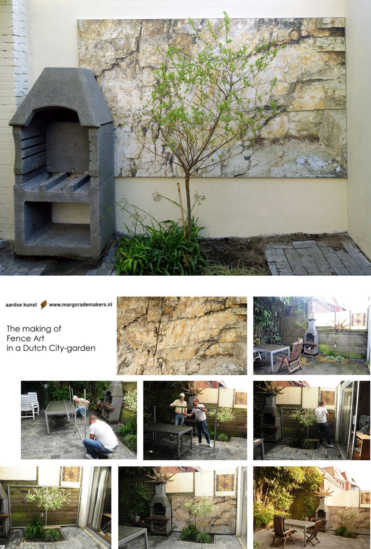 Schuttingfoto: moderne Tuin door Aardse Kunst