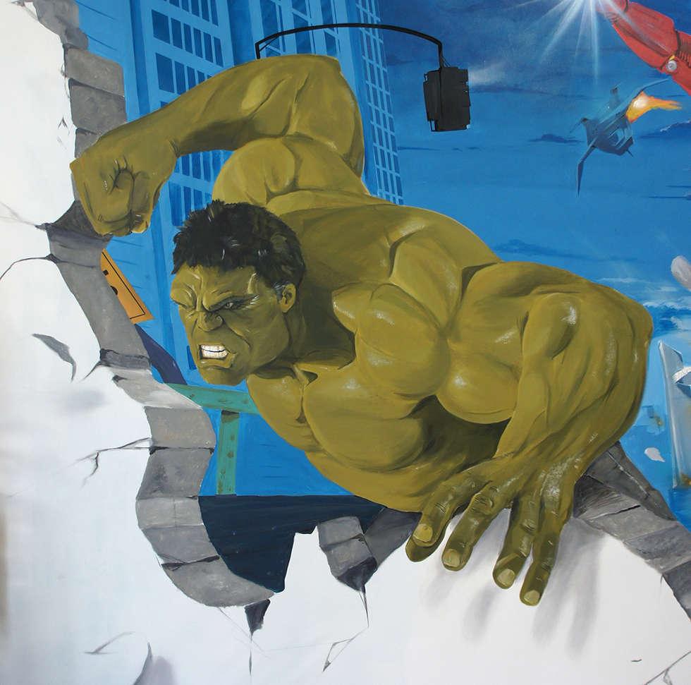 Hulk: Chambre d'enfant de style de style eclectique par Dave Baranes