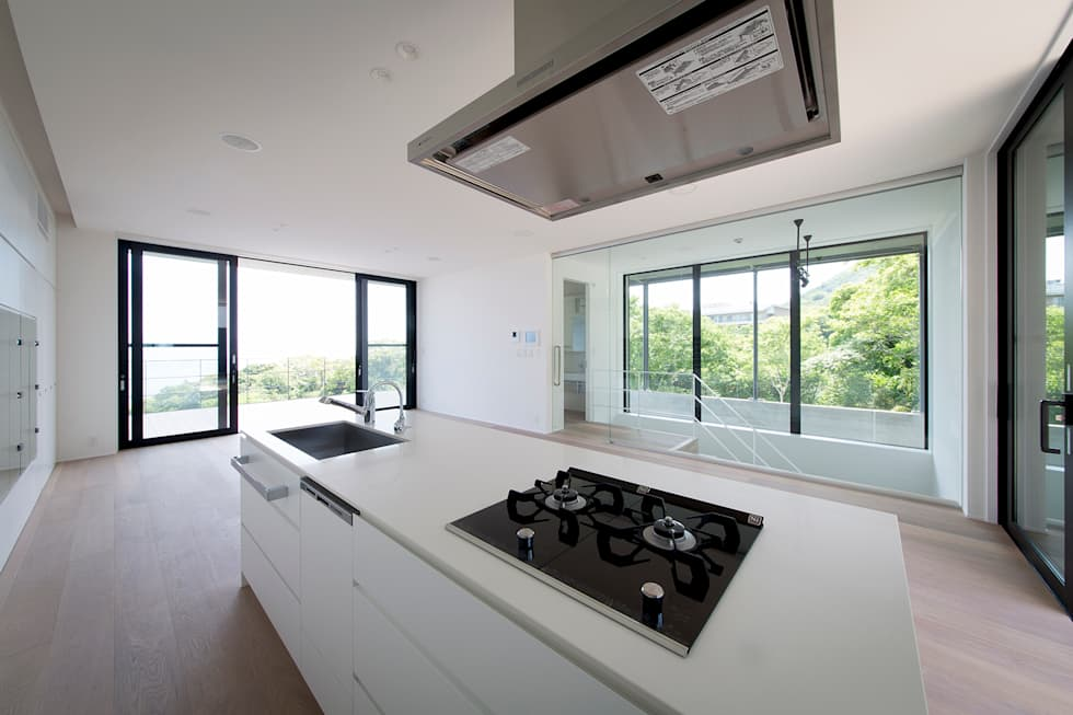 非日常スタジオ付ガレージ住宅: ラブデザインホームズ/LOVE DESIGN HOMESが手掛けたシステムキッチンです。