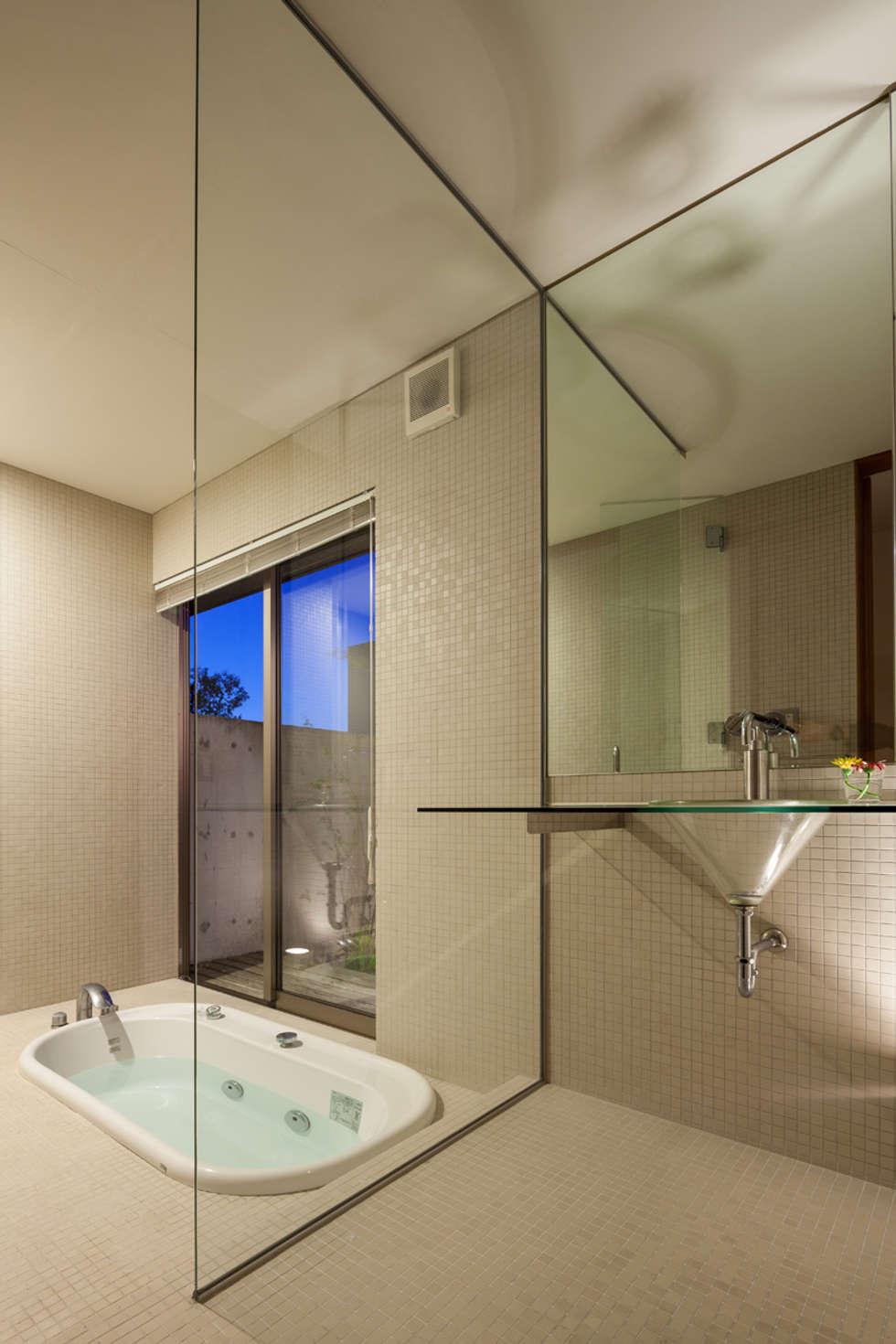 浴室: 川添純一郎建築設計事務所が手掛けた家です。