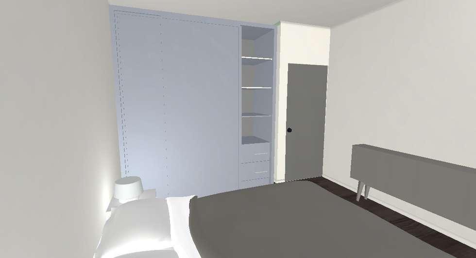 Chambre projet 3D: Salon de style de style Moderne par Decorexpat