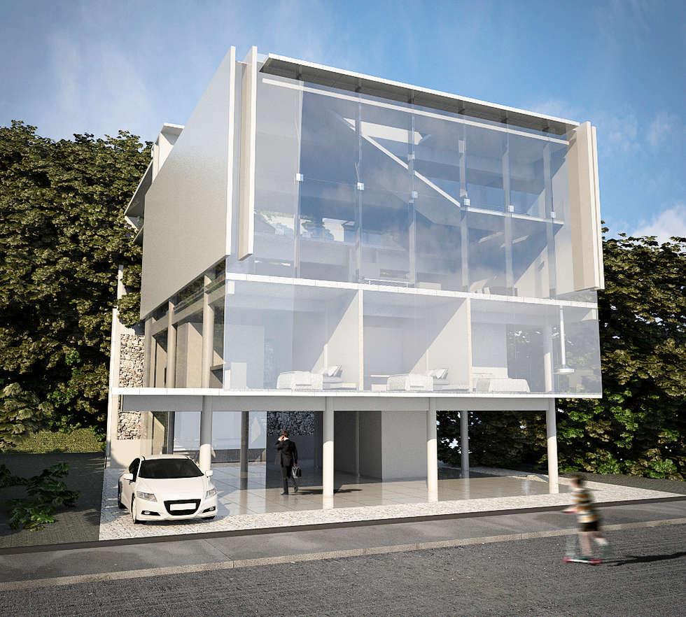 CASA POTIRA: Paredes  por FCM Arquitetura