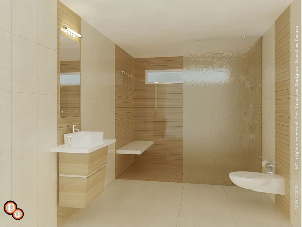 Bathroom interiors: minimalistic Bathroom by Preetham  Interior Designer
