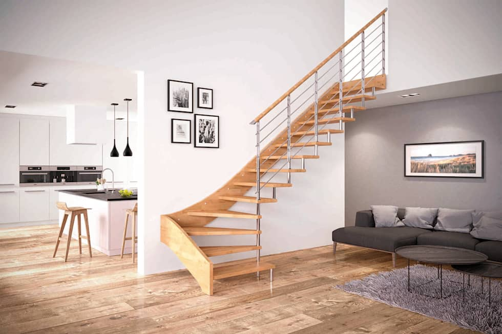 Scale interne in legno firmate rintal ingresso corridoio for Tipi di abitazione