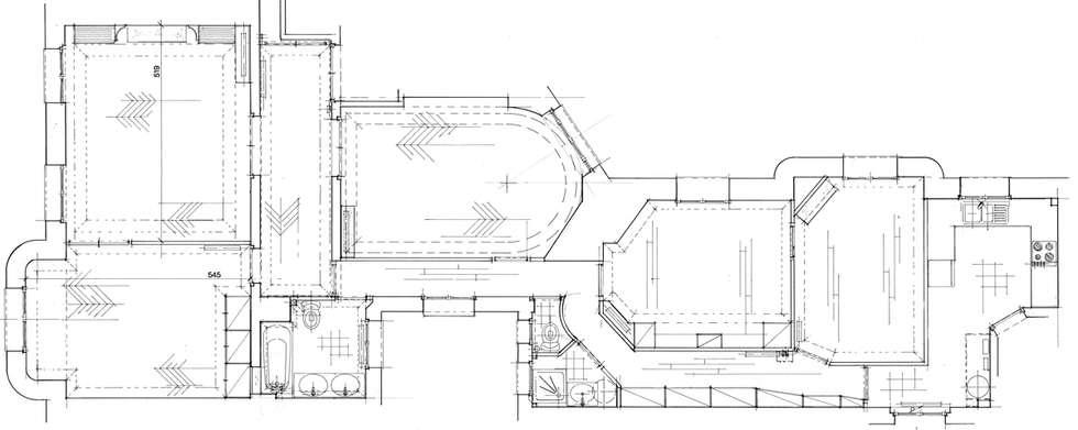 Plan d'Etat des Lieux de l'appartement avant travaux : Salon de style de style Moderne par Philippe Ponceblanc Architecte d'intérieur