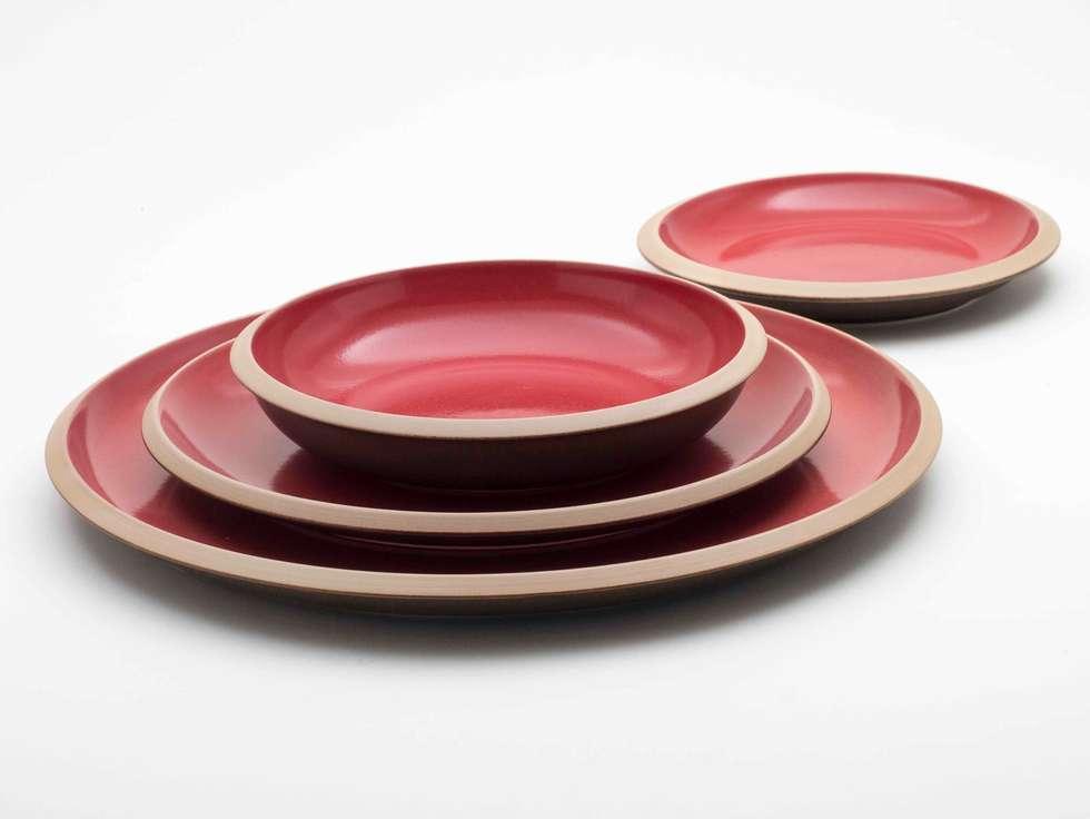 set piatti collezione giotto cucina in stile in stile eclettico di ceramiche bucci srl
