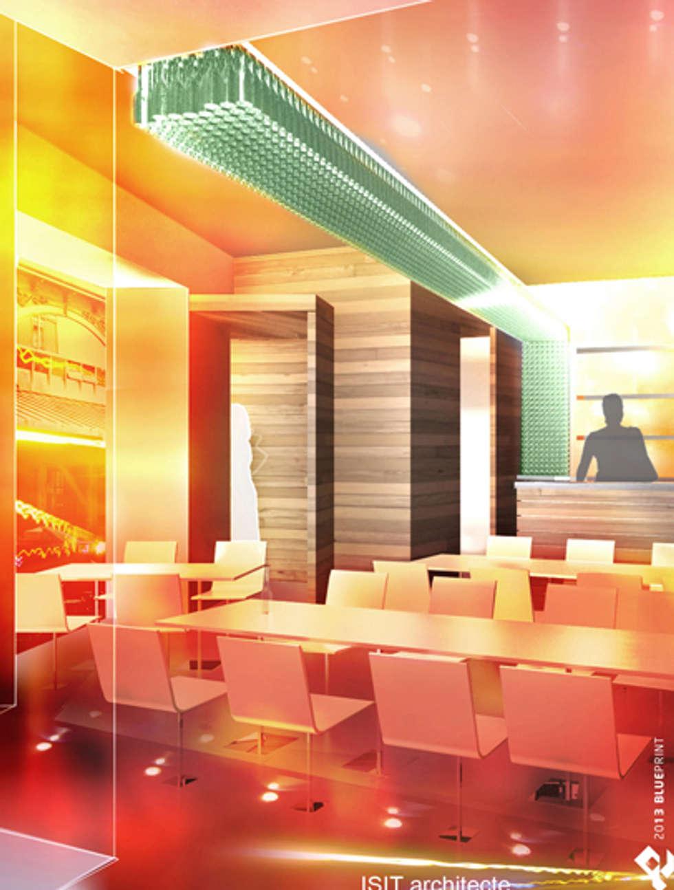 Bar- Grenoble: Maisons de style de style Moderne par ISIT ARCHITECTURE