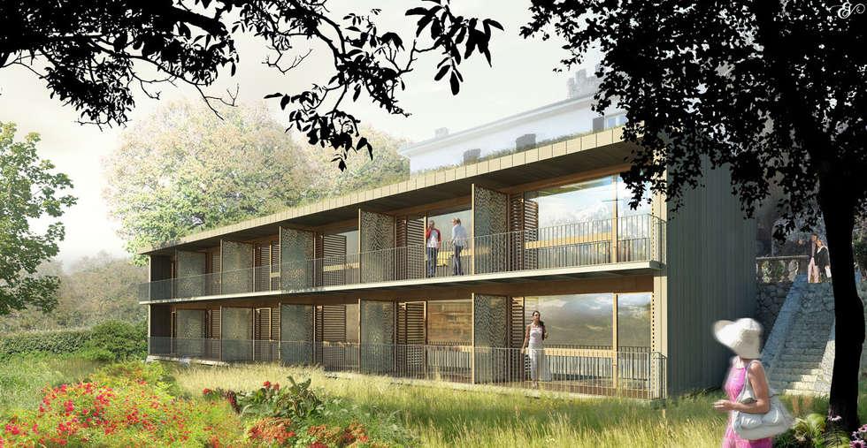 Hotel de Luxe - Seyssinet: Maisons de style de style Moderne par ISIT ARCHITECTURE