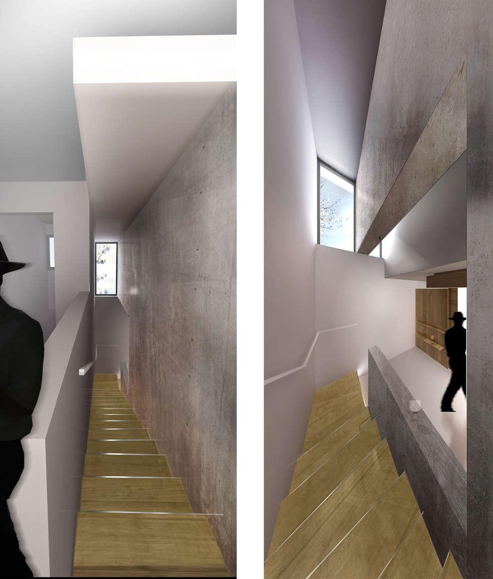Maison Individuelle - Circulations: Maisons de style de style Moderne par ISIT ARCHITECTURE