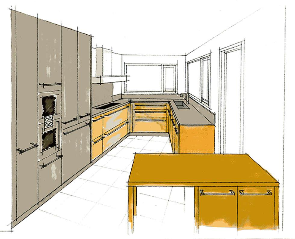 Cuisine - Maison individuelle: Maisons de style de style Moderne par ISIT ARCHITECTURE