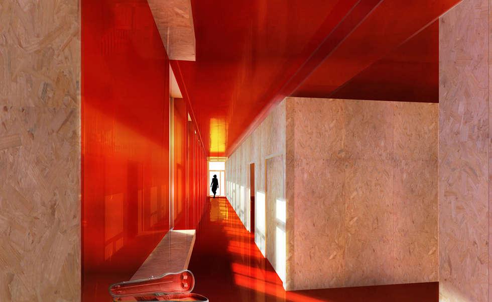 Ecole de Musique - La Tronche (38): Maisons de style de style Moderne par ISIT ARCHITECTURE
