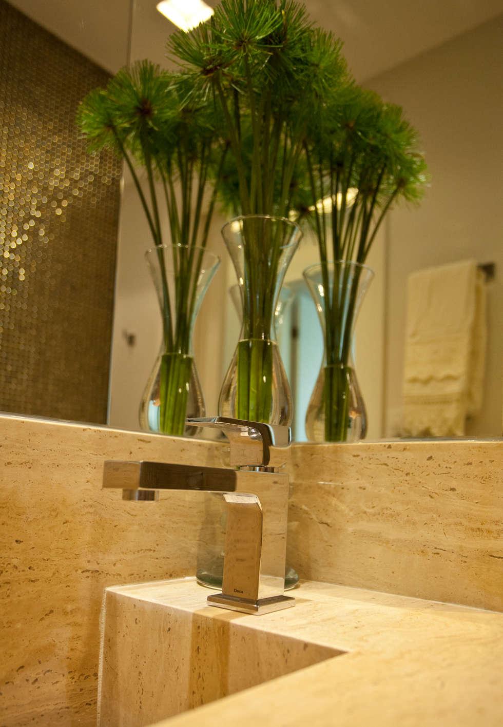 DETALHE DA BANCADA: Salas de estar modernas por Leles Arquitetura e Iluminação