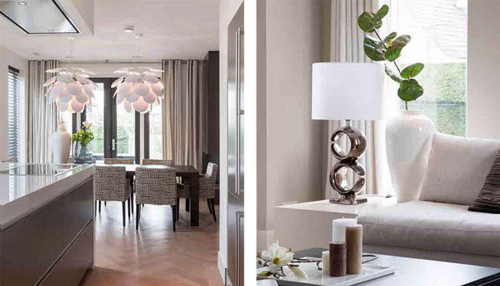 verlichting maakt het verschil!: moderne Eetkamer door choc studio interieur