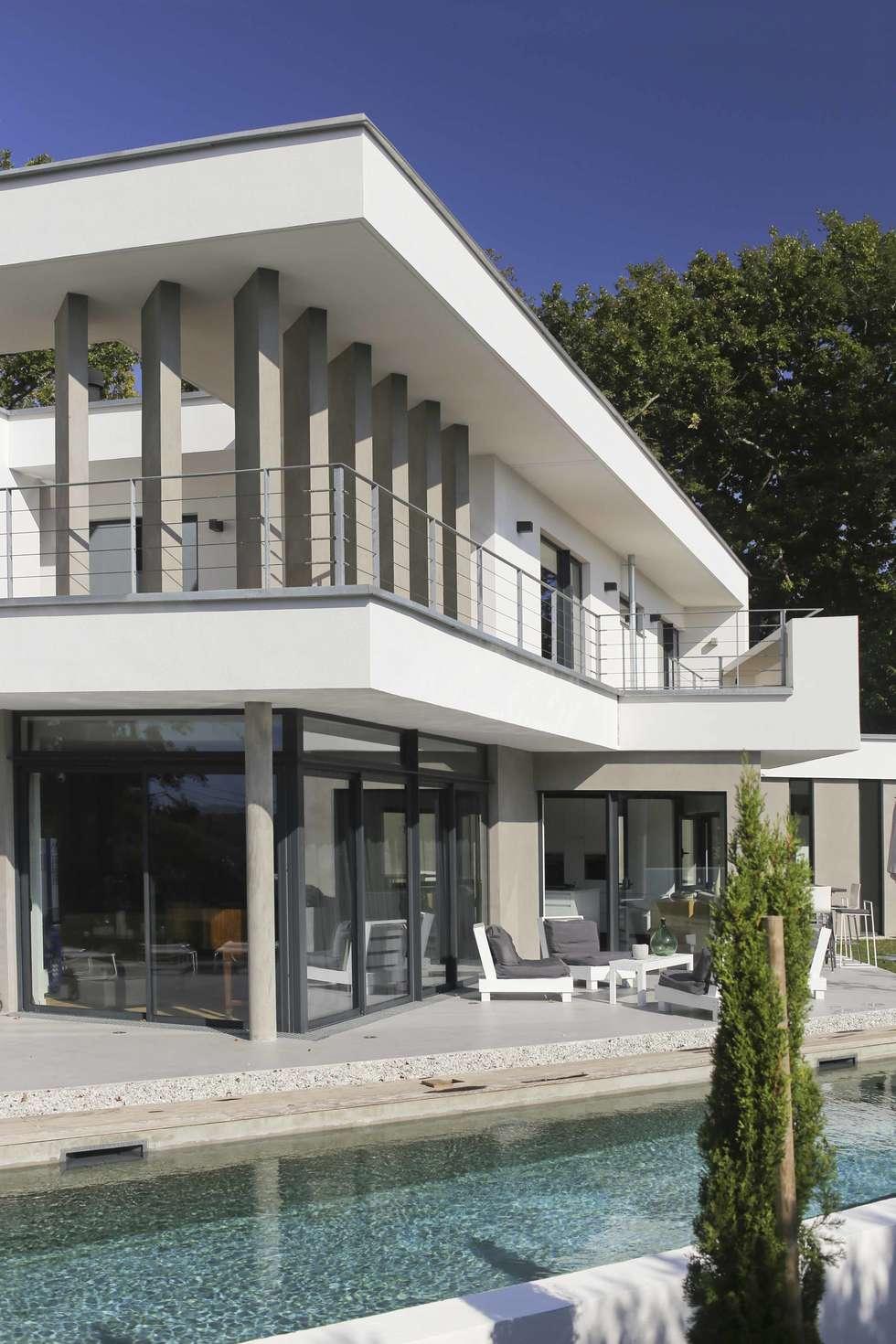 Maison neuve à biarritz: maisons de style de style moderne par ...