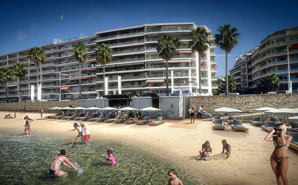 Intégration paysagère 3D: Locaux commerciaux & Magasins de style  par Vizion Studio