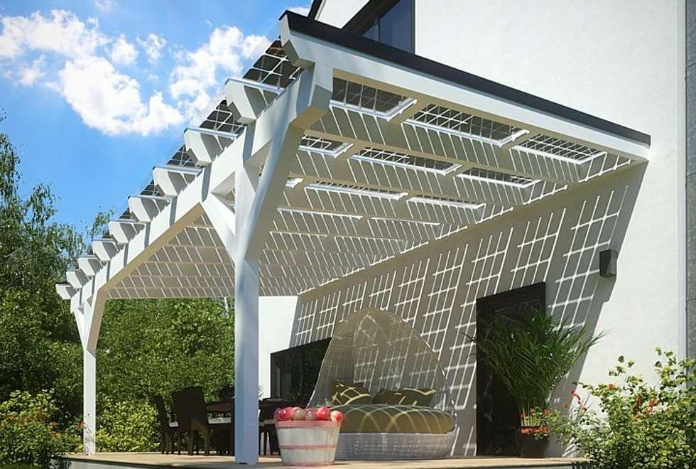 Solar-glas-terrassenüberdachung: moderner balkon, veranda & terrasse ...