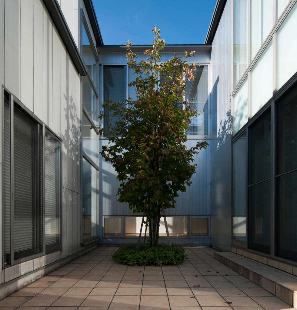 中庭: 家山真建築研究室 Makoto Ieyama Architect Officeが手掛けたベランダです。