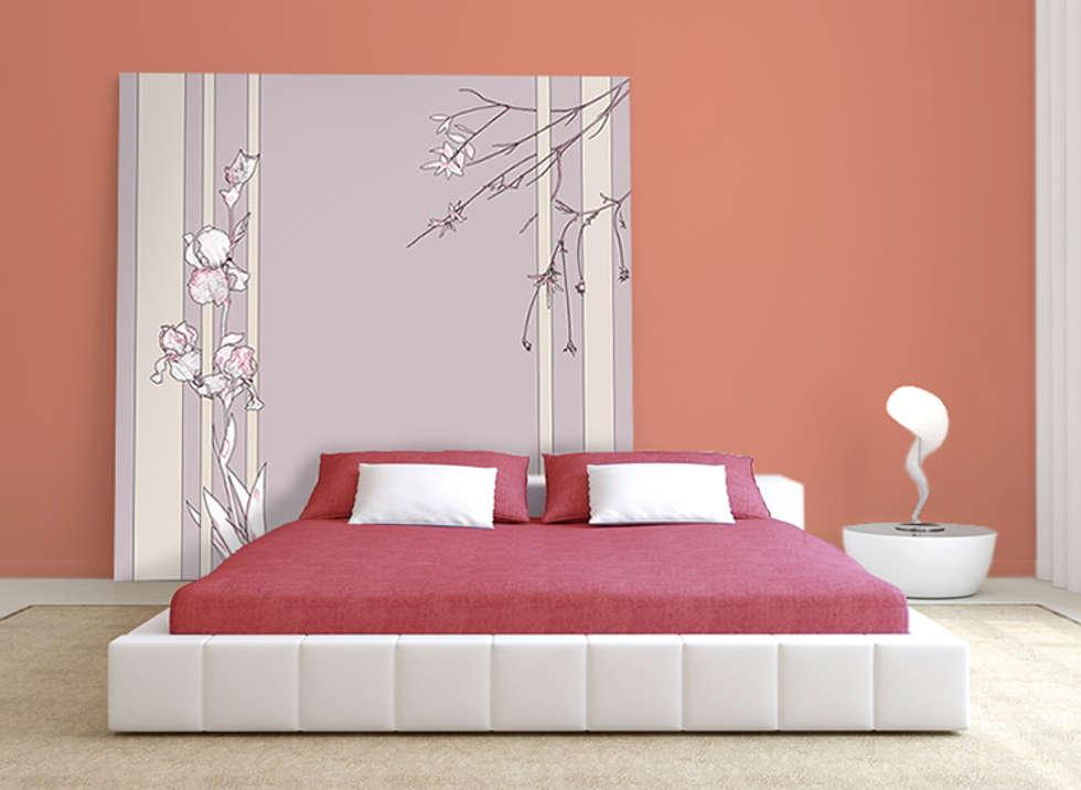 t te de lit originale pour une chambre aux couleurs tr s girly murs sols de style de. Black Bedroom Furniture Sets. Home Design Ideas