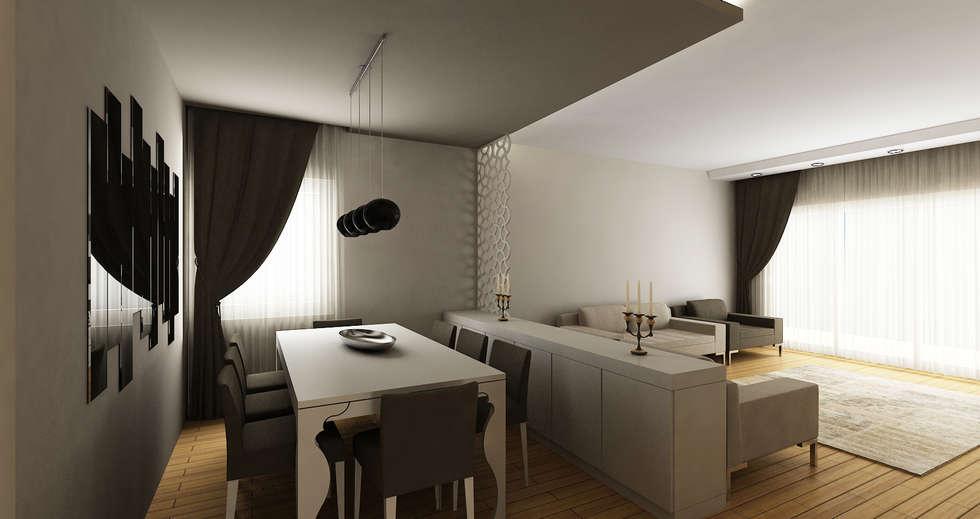Salas de jantar modernas por Niyazi Özçakar İç Mimarlık