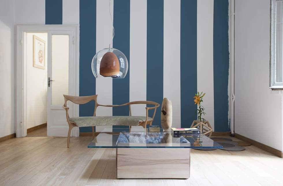 Teca: Soggiorno in stile in stile Scandinavo di SLOW WOOD - The Wood Expert