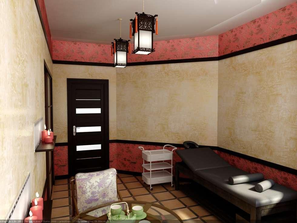 Массажный кабинет в Китайском стиле.: Спа в . Автор – Дизайн студия 'Exmod' Павел Цунев