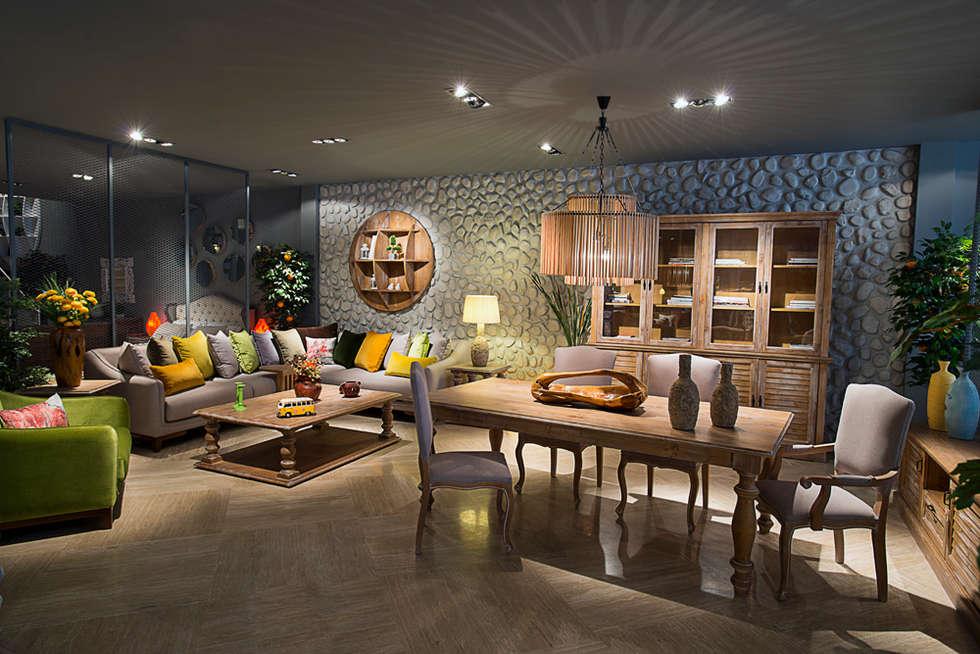 Kuta Home – İDEAL YEMEK TAKIMI: rustik tarz tarz Yemek Odası