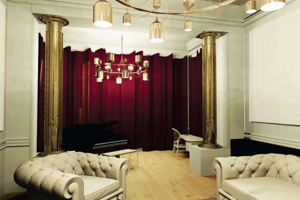 Salon : Salon de style de style eclectique par Camille DELSAUX