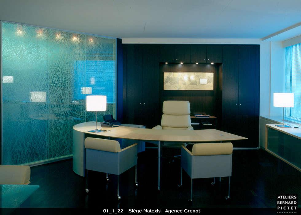 Bureau de direction, siège de Natexis: Bureaux de style  par le verre appliqué à la décoration et à l'architecture