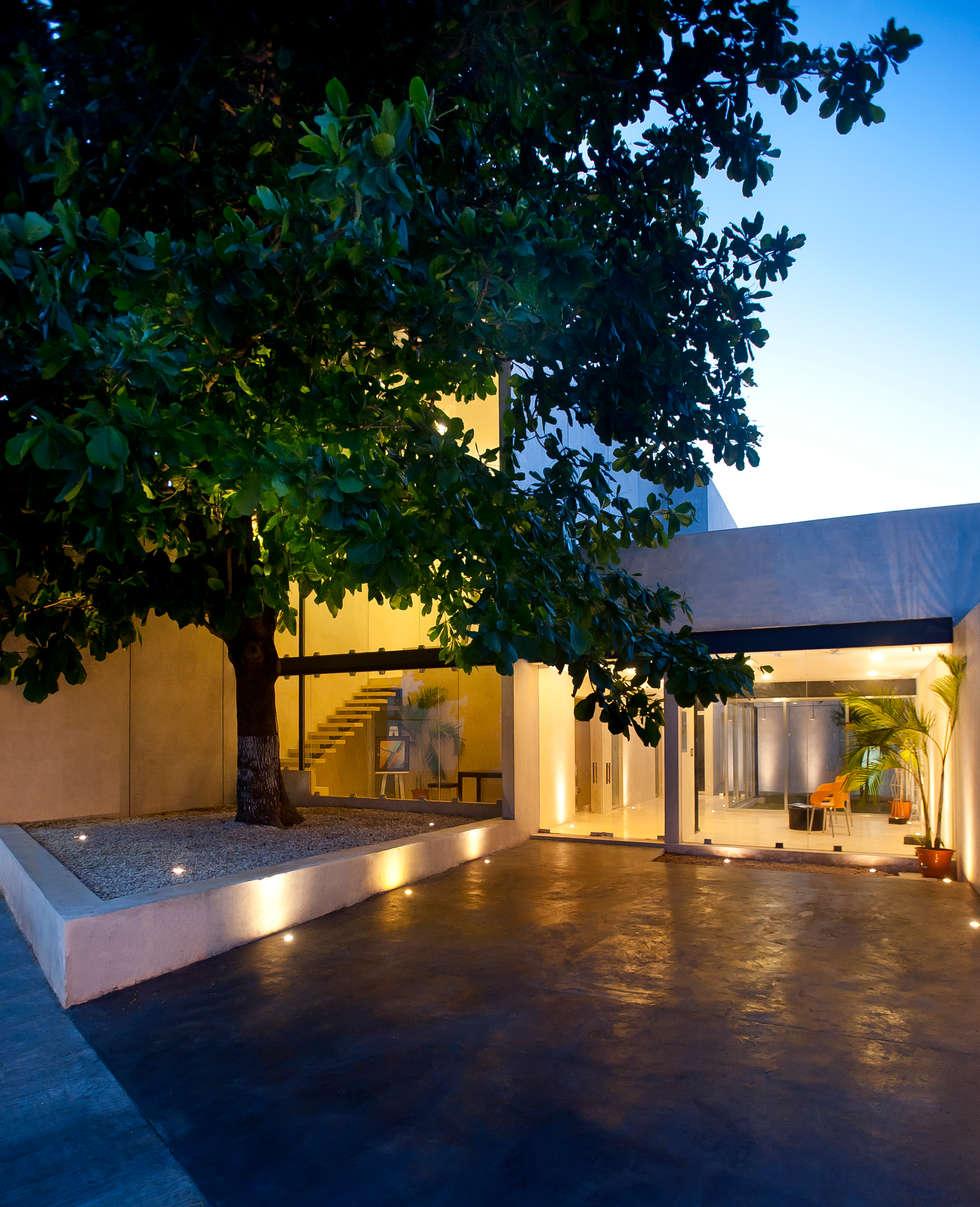 """Despacho de arquitectos """"A la sombra de un almendro"""": Edificios de Oficinas de estilo  por Arturo Campos Arquitectos"""