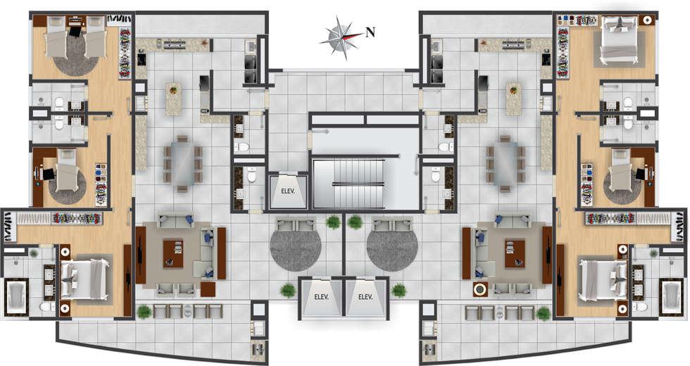 Fotos de decora o design de interiores e reformas homify - Tipos de pavimentos ...