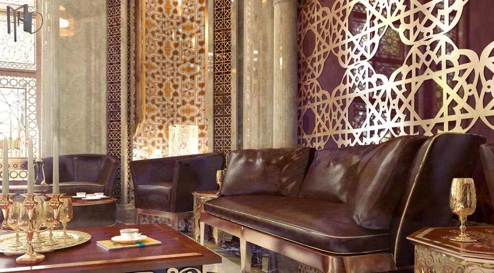 MHD Design Group – cam_03: rustik tarz tarz Oturma Odası