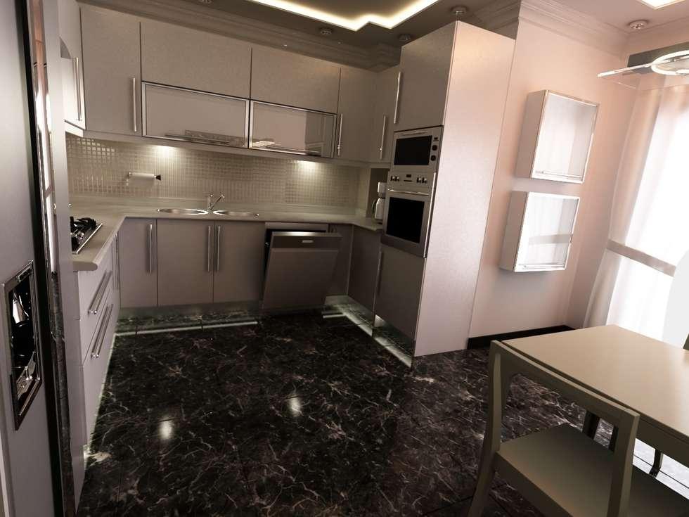 MN Project & Interior – Sakura Evleri - Kitchen: modern tarz Mutfak