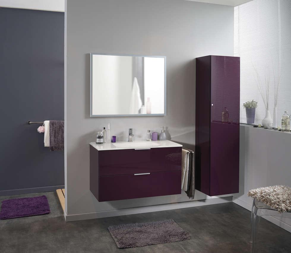 salle de bains luxy aubergine salle de bain de style de style moderne par parisot homify. Black Bedroom Furniture Sets. Home Design Ideas
