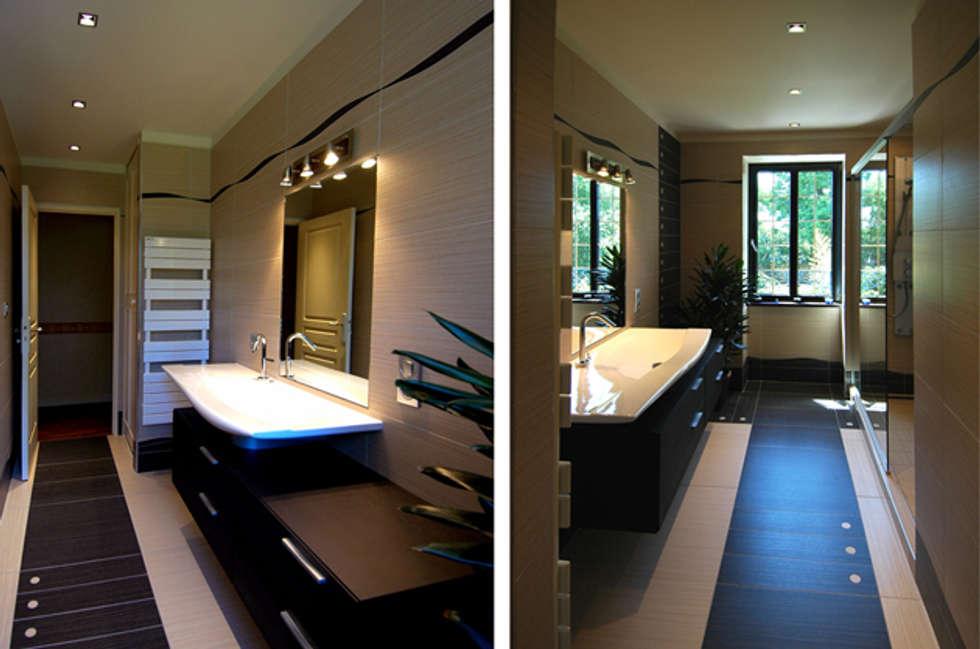 Salle d'eau: Salle de bains de style  par ARMOR ARCHITECTURE ASSOCIES
