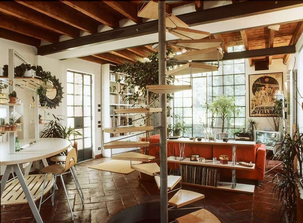 Salones de estilo ecléctico de orlandini design sas