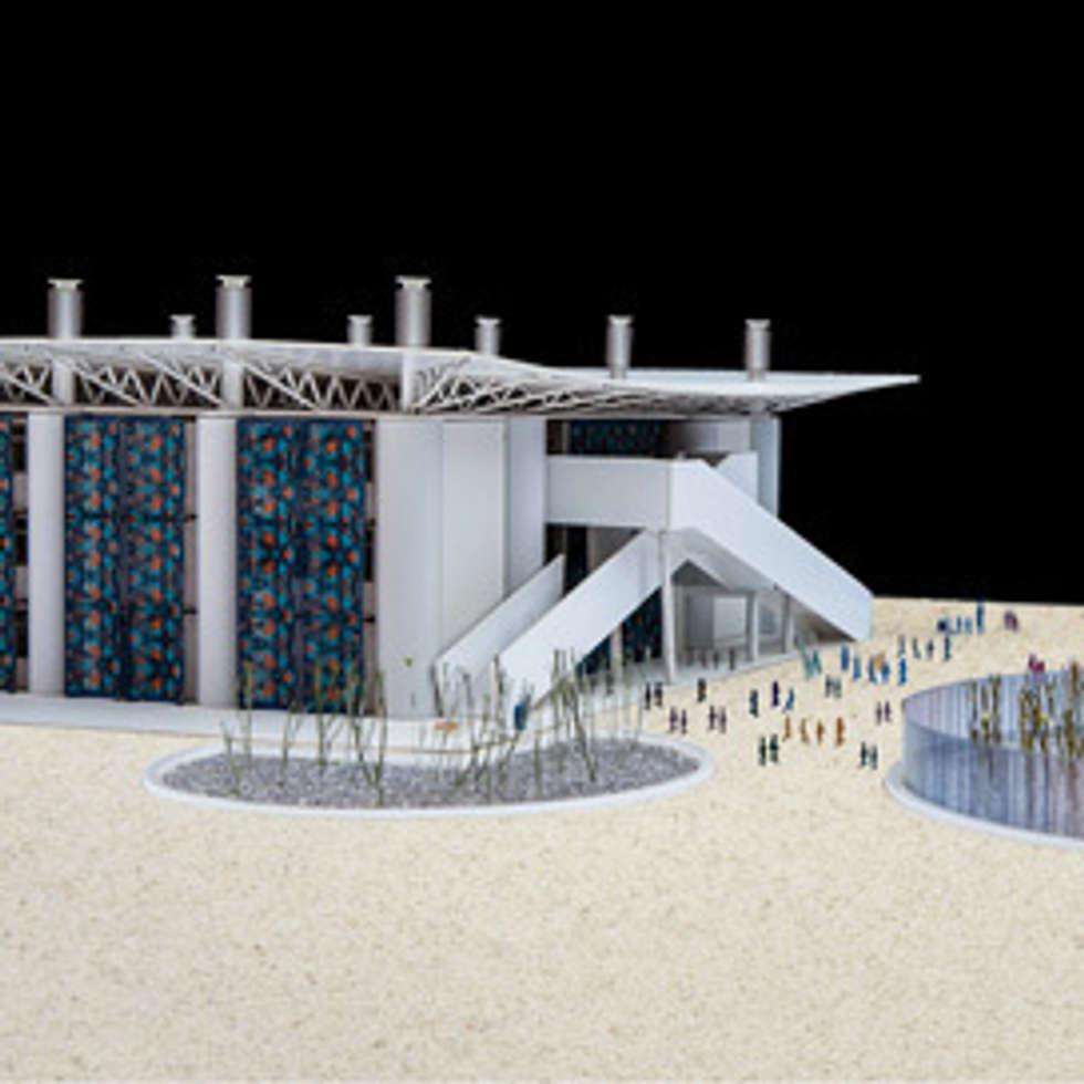 Kuwait School in Gaza, modello : Ingresso & Corridoio in stile  di Mario Cucinella Architects