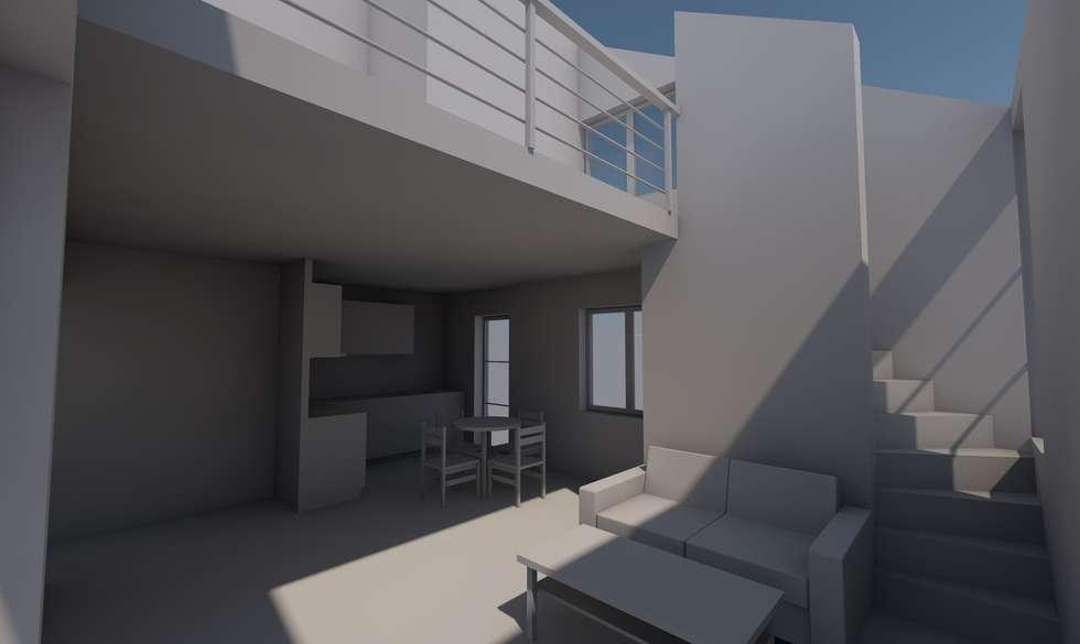 Petit budget: Conception maison individuelle: Salon de style de style Moderne par AeA - Architecture Eric Agro