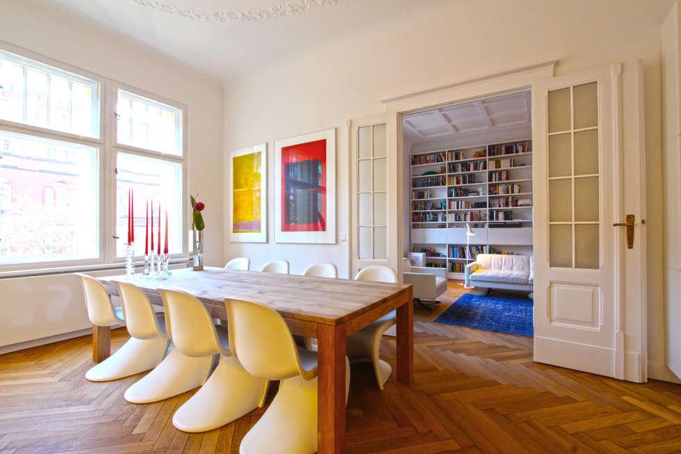 Modernisierung Und Umbau Einer Gründerzeit Wohnung In Berlin  Charlottenburg: Moderne Esszimmer Von WAF Architekten