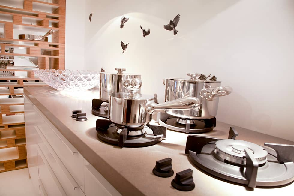 Wallpaper Sparrow: industriële Keuken door Snijder&CO