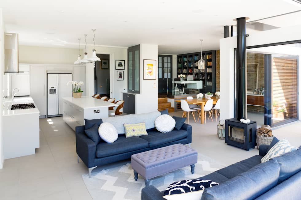 Broadgates Road: modern Living room by Granit Architects