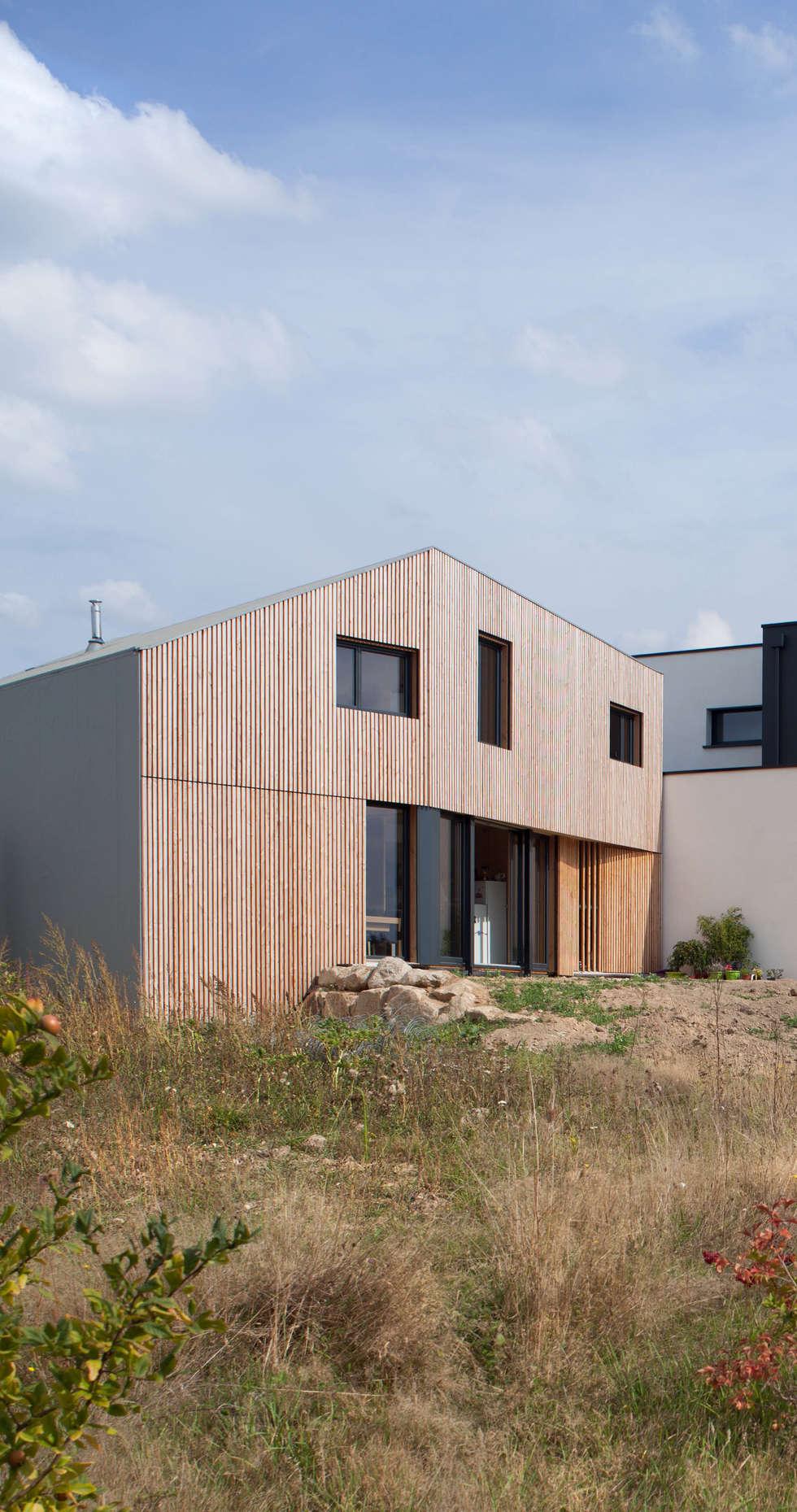 comme un instrument de bois maison modu maisons de style de style minimaliste par mfa. Black Bedroom Furniture Sets. Home Design Ideas