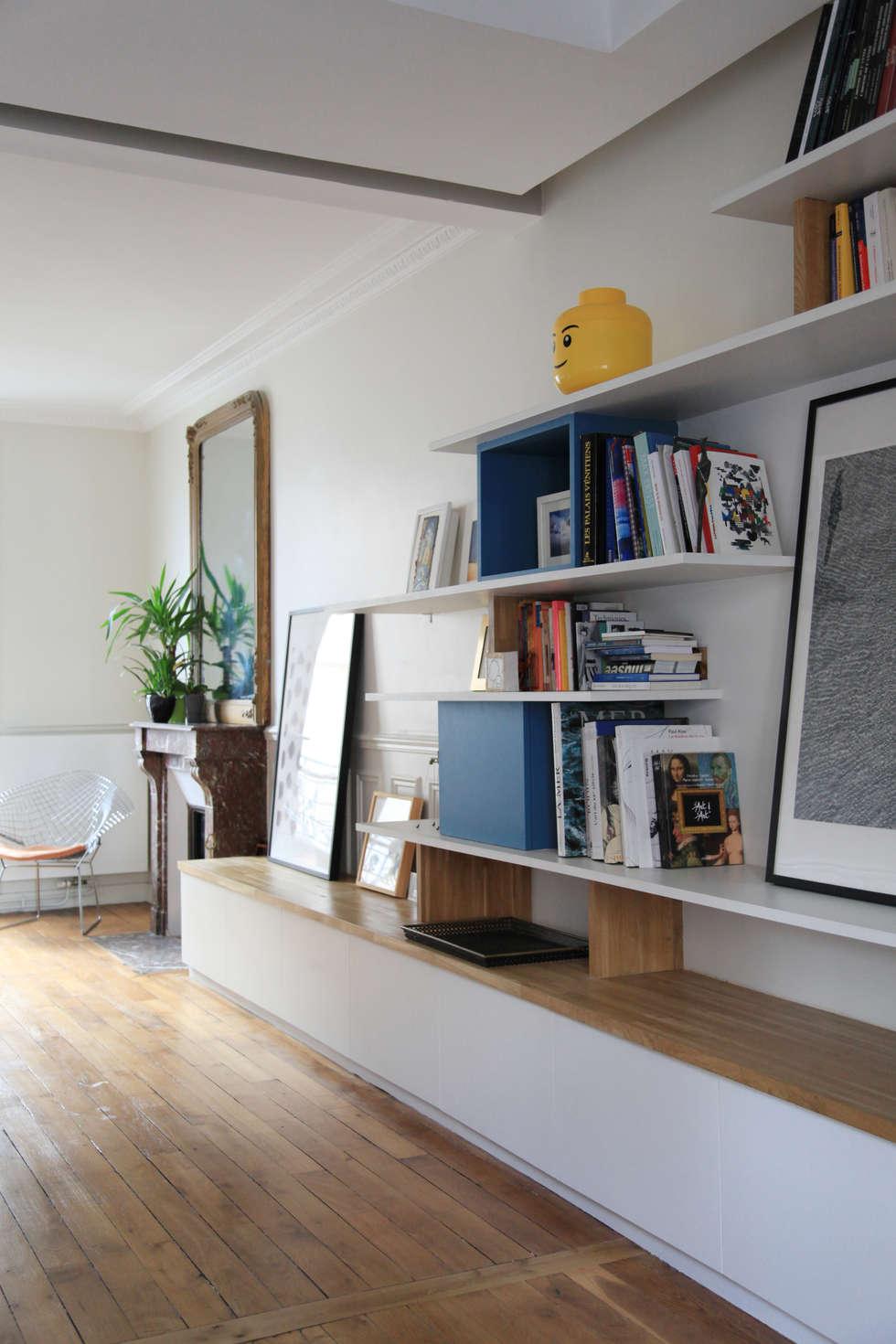 un espace gand ouvert: Salon de style de style Moderne par BuroBonus