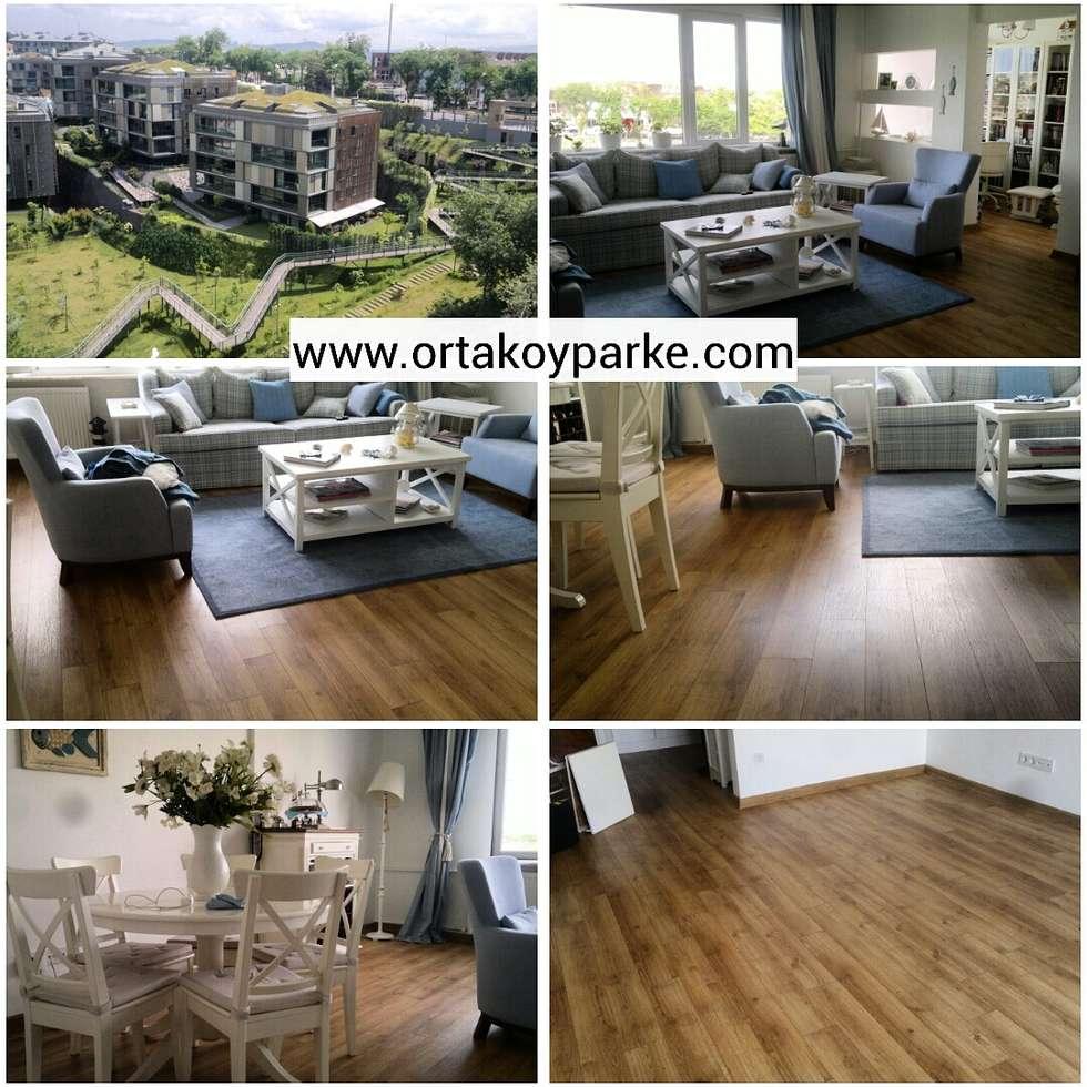 Ortaköy Parke İç Dekorasyon – THY ULUS SİTE WOOD COLLECTİON NATUREL OAK : modern tarz Oturma Odası