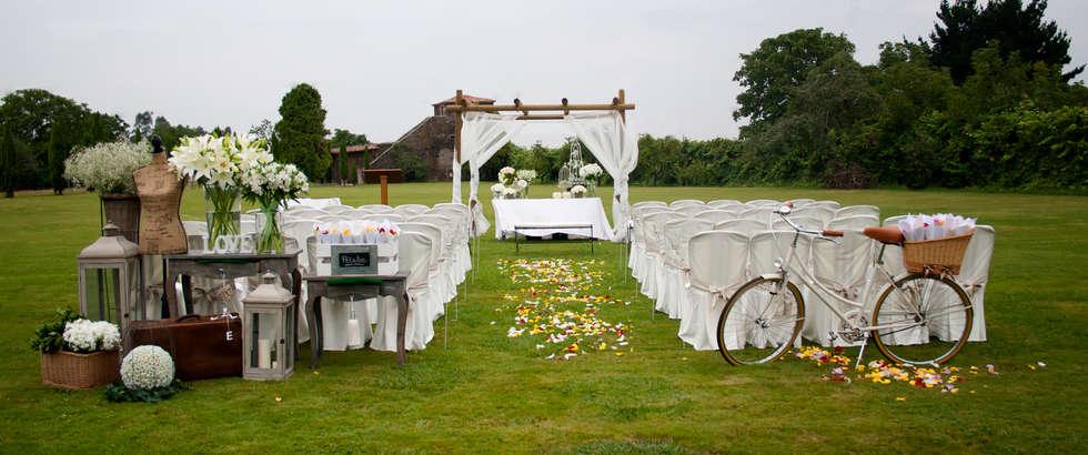 Decoraci n boda civil jard n de estilo de cris camba for Decoracion boda civil jardin