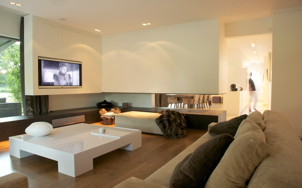 Salon: Salon de style de style Minimaliste par GUILLAUME DA SILVA ARCHITECTURE INTERIEURE