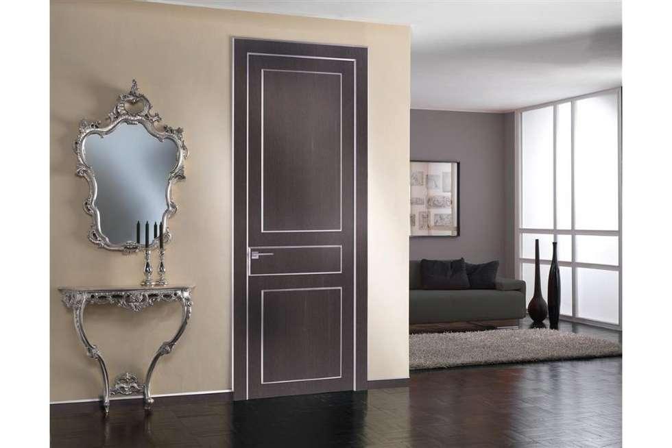 porta interna in legno Eclectic rovere grigio: Finestre in stile  di TONDIN PORTE SRL con unico socio